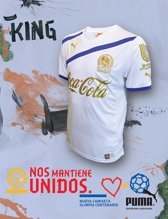 fe5d8adcfdacaa Olimpia presentó la CAMISA DEL CENTENARIO, La camisa de la marca Puma es un  template usado por varios equipos de Europa y con los detalles en dorado,  ...