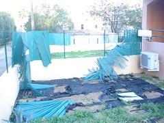 Les dégâts dans notre jardin