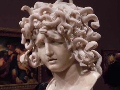 Gian Lorenzo Bernini, The Medusa, 1640s. Carrara marble. Musei Capitolini, Rome