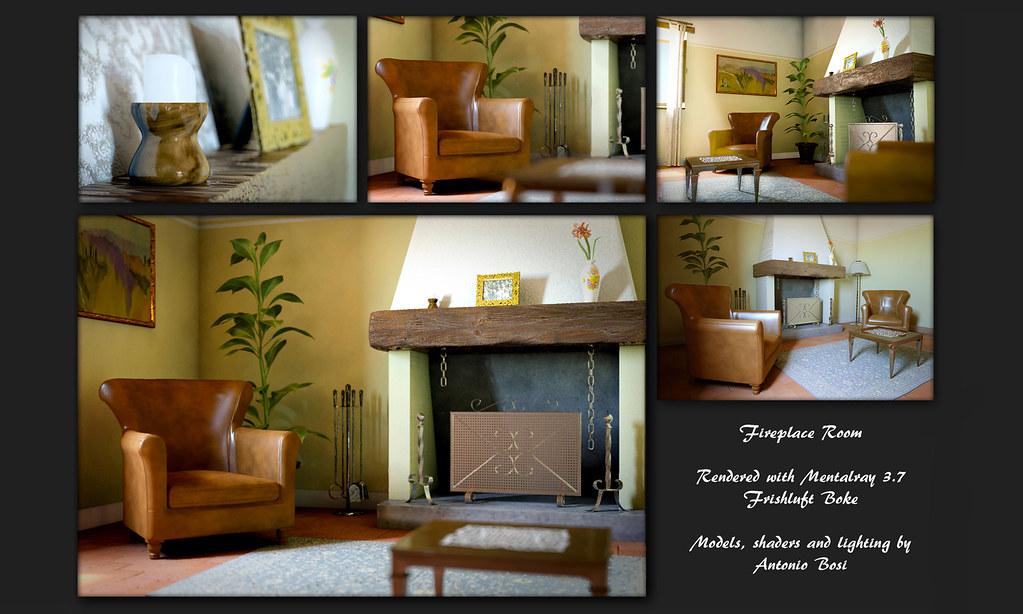 Fireplace Room | Render