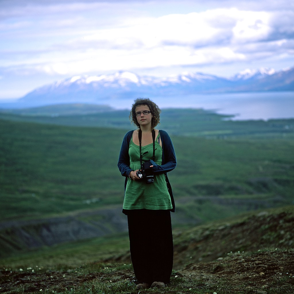 "Image titled ""Alice and minimal blendyness, Near Akureyri, Iceland."""
