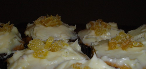 Dark & Stormy Cupcakes - Close-up