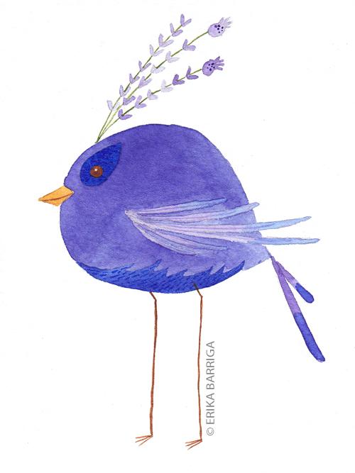 lilac bird