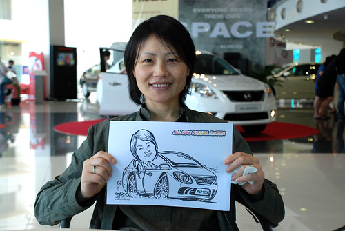 Caricature live sketching for Tan Chong Nissan Motor Almera Soft Launch - Day 3 - 3