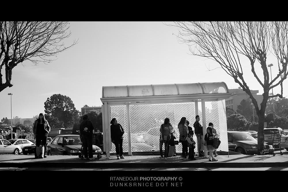 Bus Stop B&W.