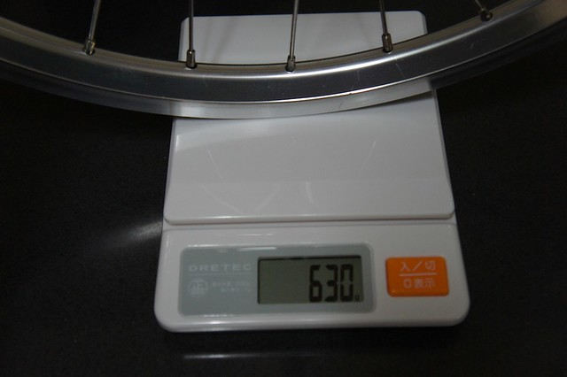 Bruno ROAD20(2011) フロントホイールの重量
