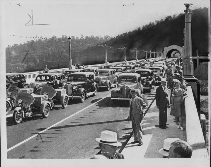 Figueroa St Viaduct opeing, 1937