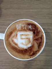 Today's failed latte, HTML5 logo... no chance! lol