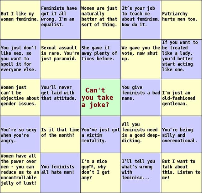 sexist bingo