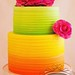 Summer Citrus & Raspberry layered wedding cake by SugablossomCakes