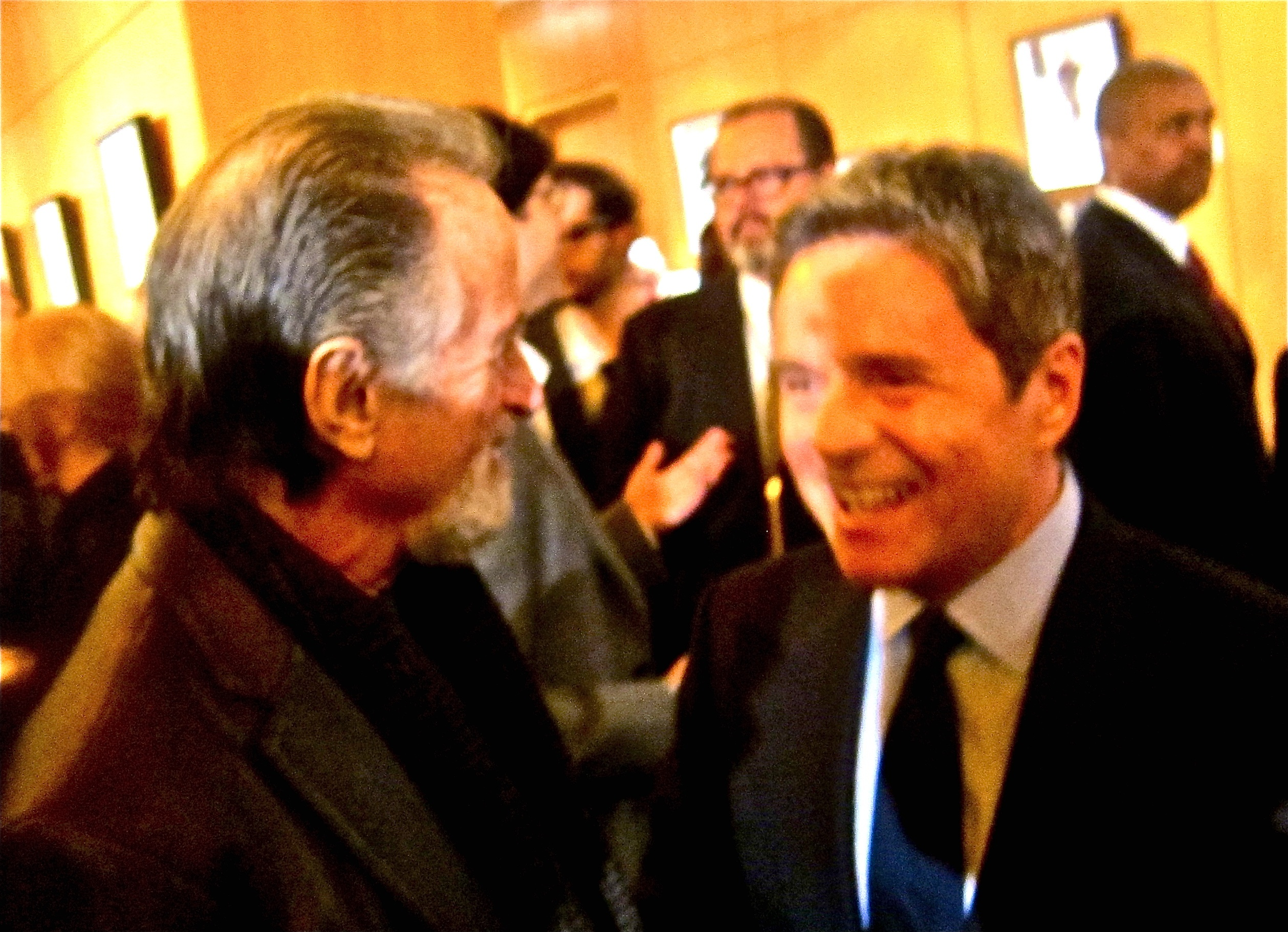 Producer LarryGordon with Paramoutn Chairman Brad Grey