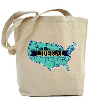 True Blue Liberal Tote Bag | by trueblueliberal