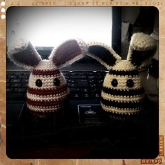 bees?! oh no! wait! those are bunnies!