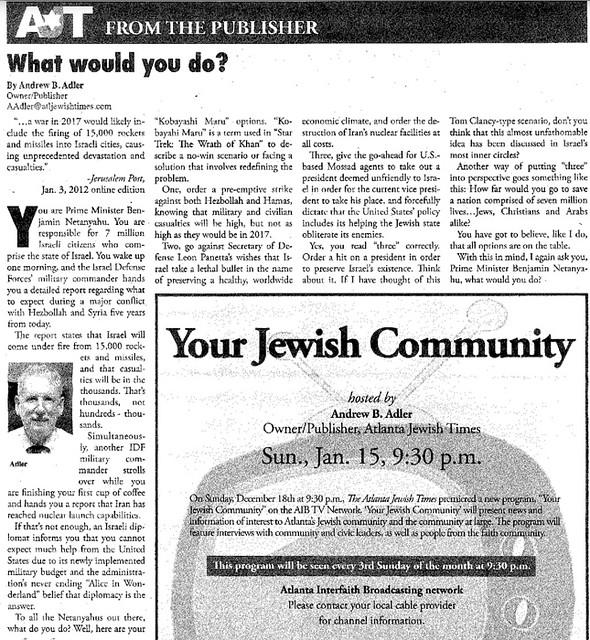 Assassination Solicitation from Andrew Adler 1:13:2012