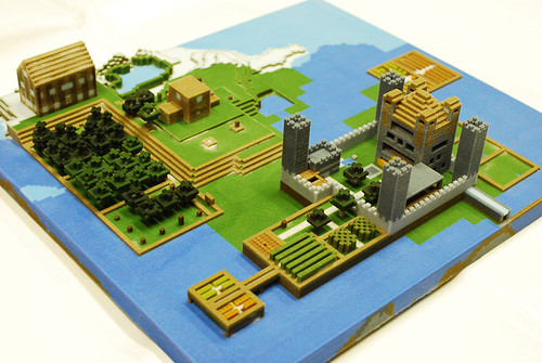 Easy Minecraft Creations http://blog.123dapp.com/2012/03/minecraft-now-3d-printed