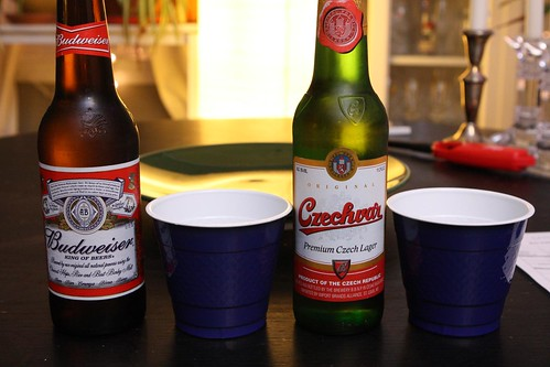 American Budweiser and Budweiser Budvar (Czechvar) For Blind Tasting