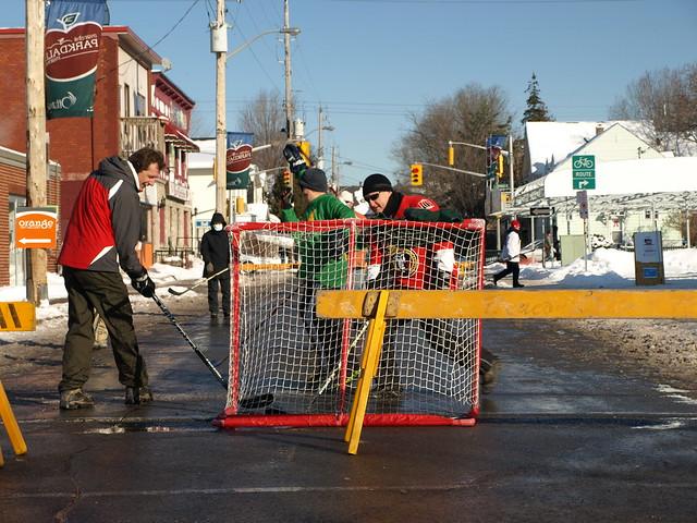 Photo Of The Day Hintonburg Street Hockey Spacing Ottawa