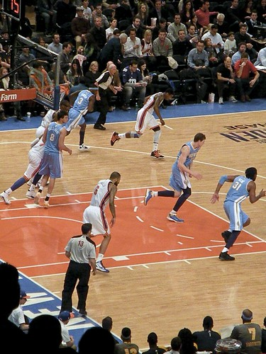 New York Knicks vs. Denver Nuggets 1.21.12