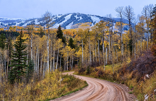 road winter mountain mountains fall nature landscape gold golden cool colorado seasons s alpine co change sns aspen firstsnow hdr snowmass scurve pitkin clff 2012a