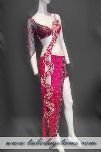 vestido serpiente