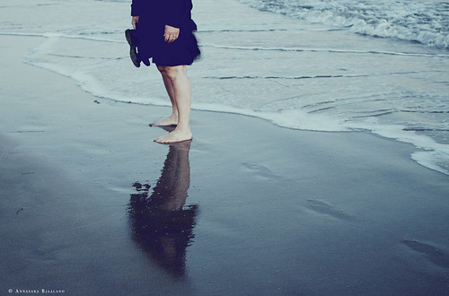 two feet in the ocean by Annasara Bjaaland