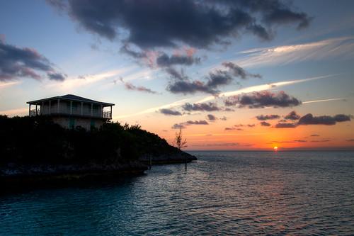 sunset vacation water clouds scenic tropical bahamas hdr exumas sampsoncay