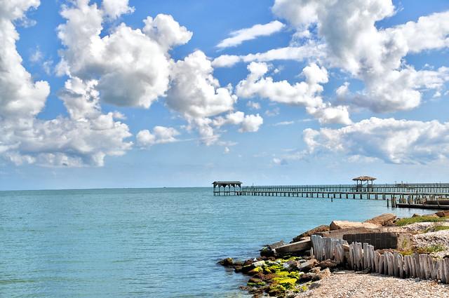 Fishing pier at aransas bay in rockport texas flickr for Port aransas fish cam