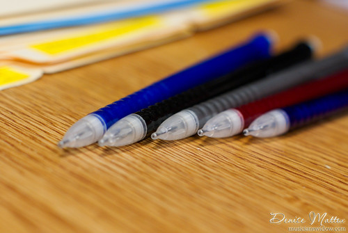 Pencils lined up, ready for action