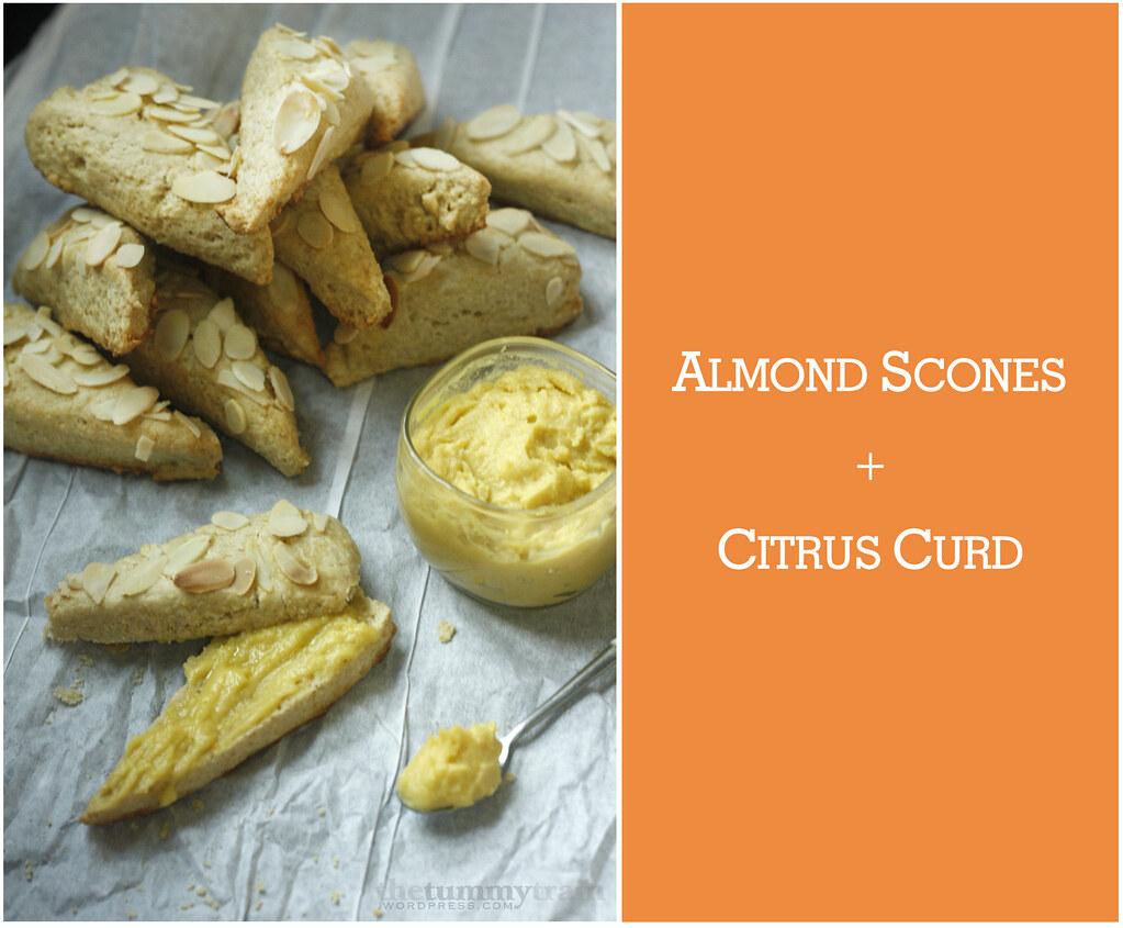 Almond Scones + Citrus Curd