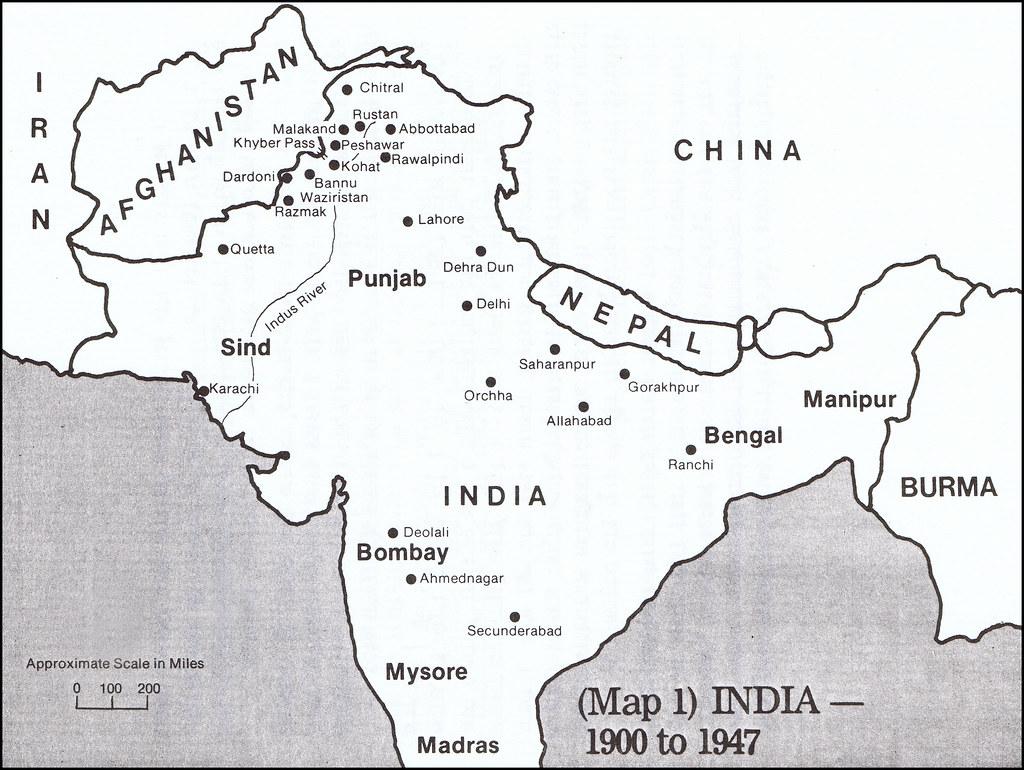 Bengal Map India Map India 1900-1947 Map India