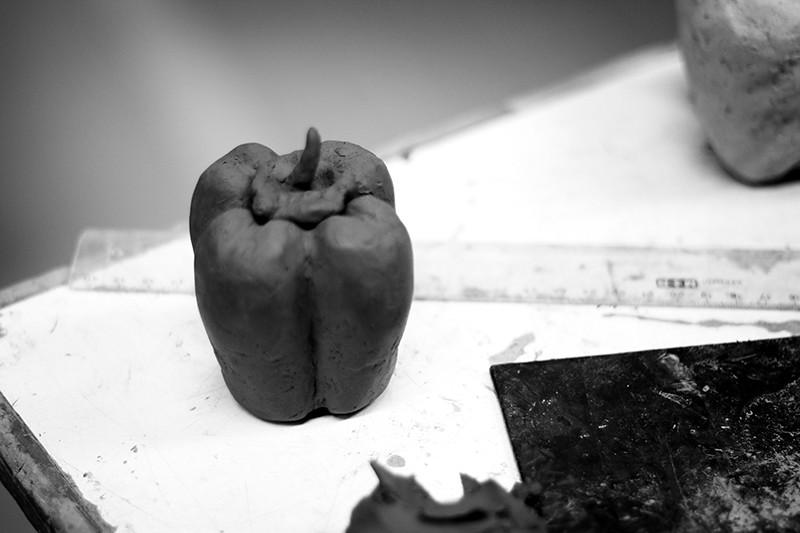 har skulpterat en paprika