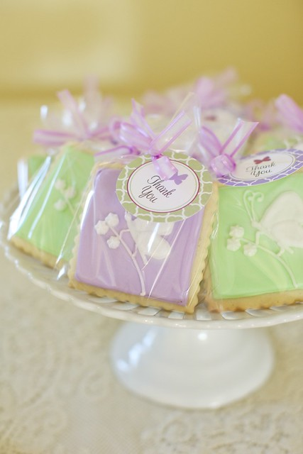 butterfly baby shower favor cookies flickr photo sharing