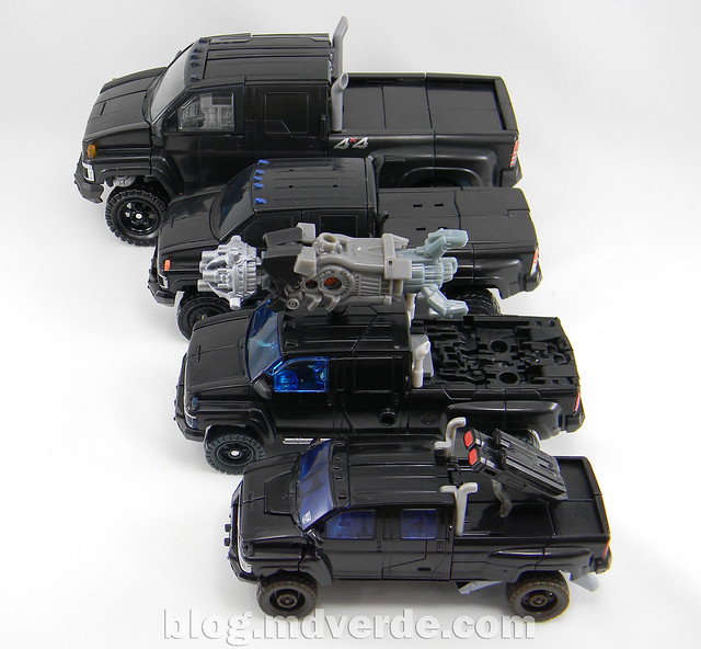 Transformers Ironhide Leader - Dark of the Moon - modo alterno vs otros Ironhides
