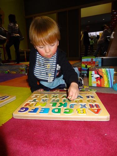 Archie Loves Alphabet Puzzles