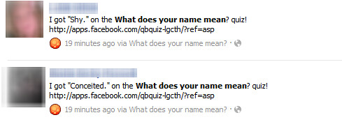What Does Your Name Mean? Facebook Scam