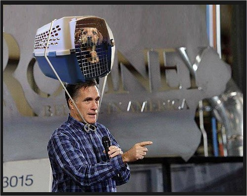 Romney with dog