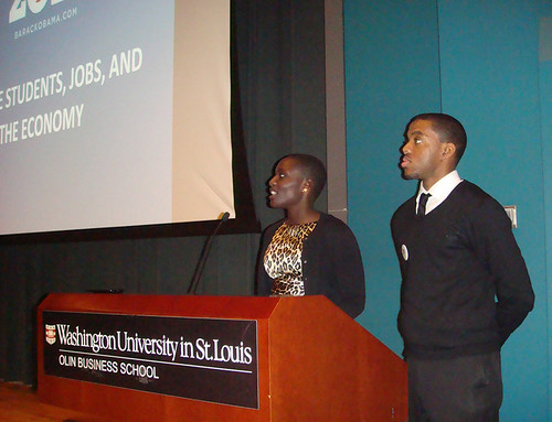 Atima - Michael co-hosts Wash U Forum