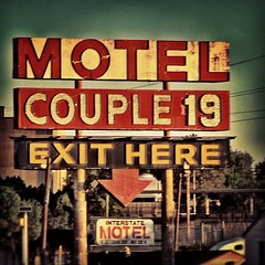 Couple 19 Motel, someday... Maybe I can stay here too!  This was too appealing to pass up, I had to turn around and get off the highway to get a shot of this little gem! ;)