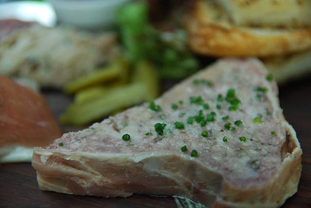 Pork and chicken terrine - Charcuterie plate - Bistro Guillaume AUD22 ...