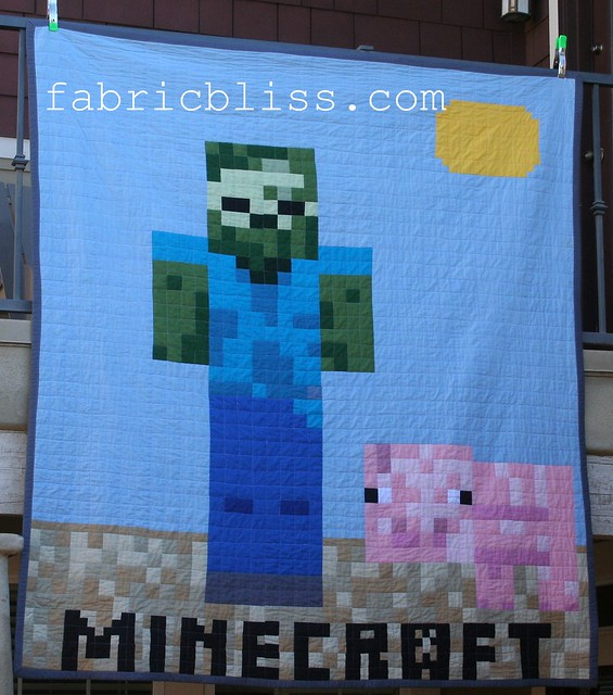 Minecraft Quilt DIY project - Zombie Steve
