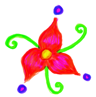 Thing-A-Day 2012 Day 3: Flower Doodle