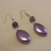 Amethyst purple drop earrings