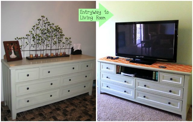Green console before and after