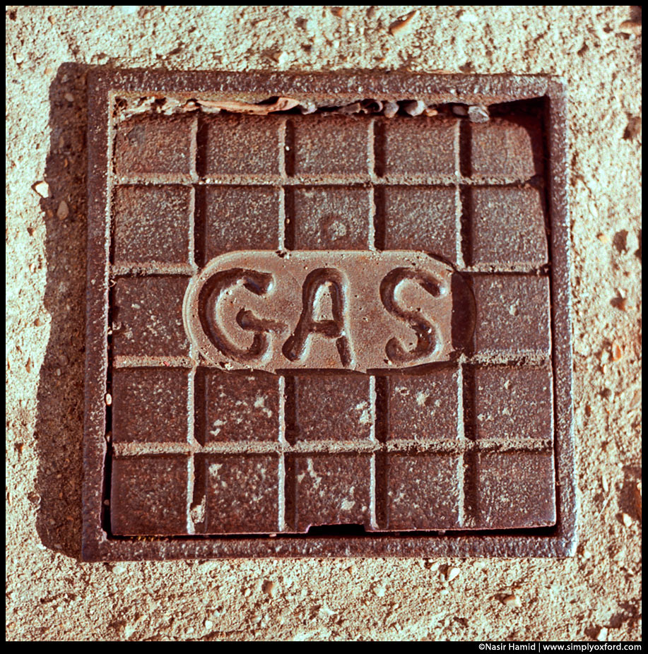 metal gas cover