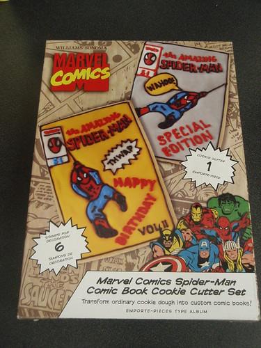 Marvel Comics Spider-Man Comic Book Cookie Cutter Set