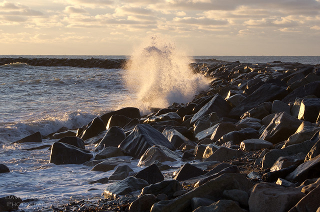 Breakers at Scituate Light
