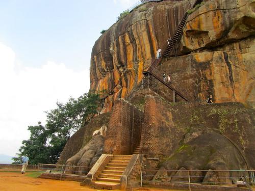 Lion's paws, Sigiriya, Sri Lanka