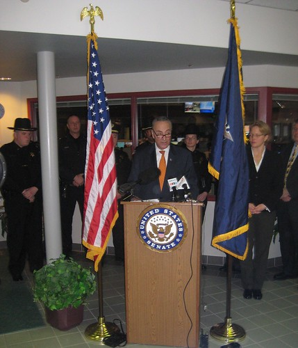 Schumer calls on DHS reverse decision and let Onondaga County use already-secured funding for radio ugrade, enabling them to join CNY Interoperability Network (2/6/2012).