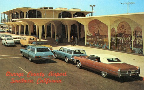 Orange County Airport postcard, 1970s