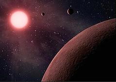 藝術家眼中的KOI-961這顆紅矮星;還沒發現伴隨在身邊的最小系外行星。(圖片提供:NASA/JPL-Caltech )